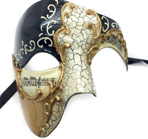 1. Gold Lining Musical Half Face Mask