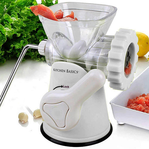 1. Kitchen Basics 3-In-1 Meat Grinder and Vegetable Grinder/Mincer