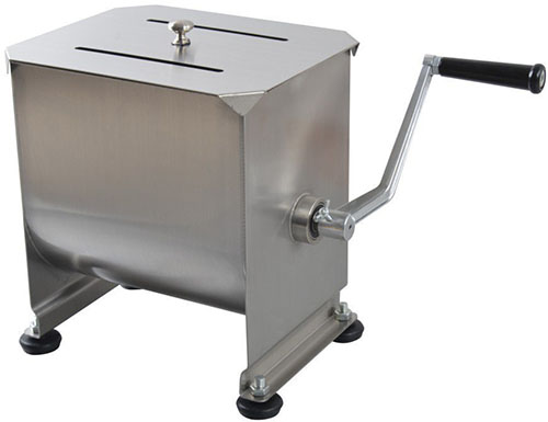 10. Hakka® 20 lbs. Tank Stainless Steel Manual Meat Mixer (10 Liter)