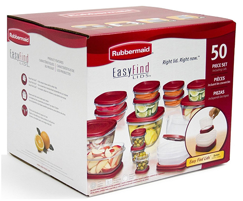 2. Rubbermaid 50-Piece