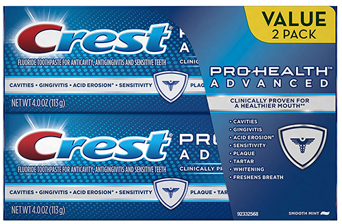 4. Crest Pro-Health Advanced Smooth Mint Toothpaste