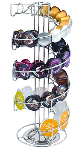 9. Toplife Nespresso Coffee Capsules Holder Carousel