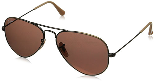2. Ray-Ban Aviator RB3025 Large Metal Aviator Sunglasses