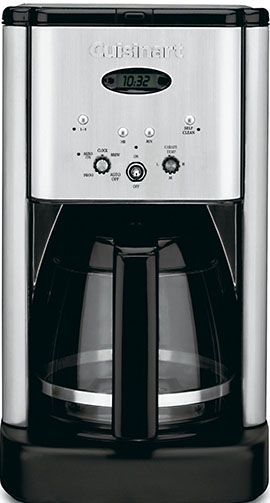 9. Conair Cuisinart brew central DCC-1200 12 cup programmable coffee maker, black/silver.