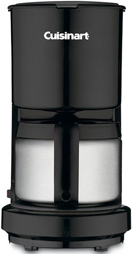 5. Cuisinart DCC-450BK 4 cup coffee maker.