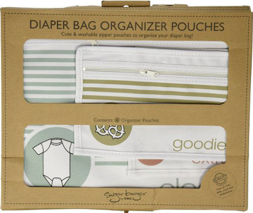 6. Sugarbooger Diaper Bag Organizer Pouches