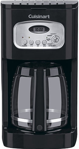 7. Cuisinart classic 12 cup programmable coffee maker.