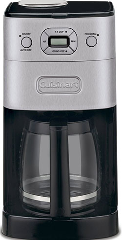 8. Cuisinart DGB-625BC grind-and-brew 12 cup coffee maker.
