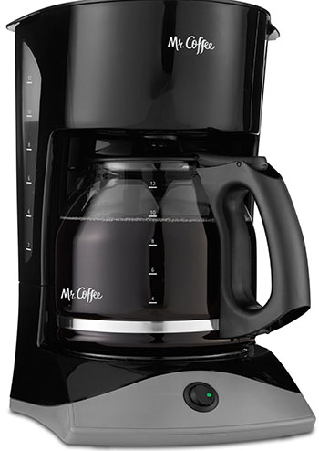 4. Mr. Coffee SK13 12 cup coffee maker.