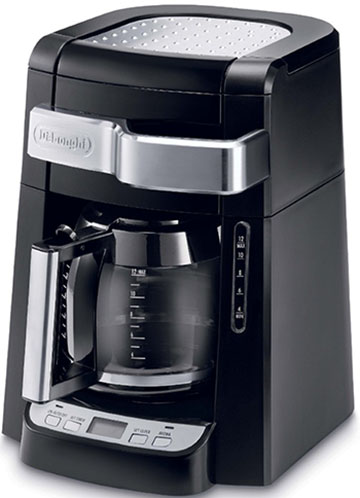 10. DeLonghi DCF2212T 12-cup coffee maker, Black.