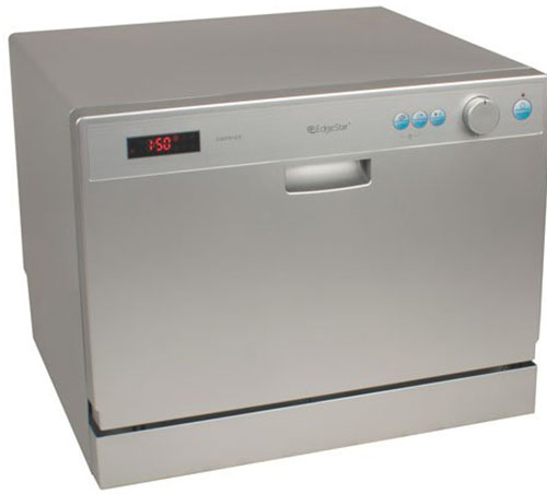 5. EdgeStar 6 Place Setting Countertop Portable Dishwasher