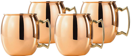 10. Old Dutch Solid Copper Moscow Mule Mug, 24-Ounce, Set of 4