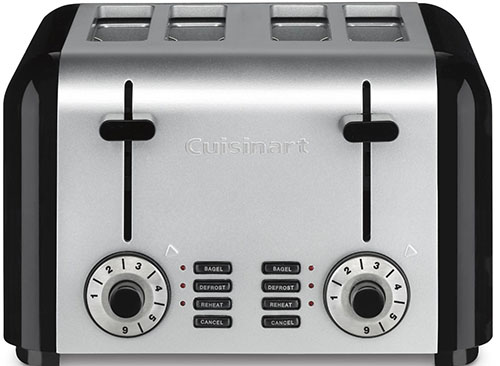 3Cuisinart CPT-340 Compact Stainless 4-Slice Toaster, Brushed Stainless