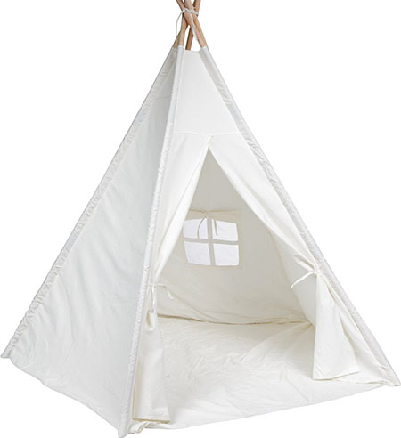 10. Trademark Innovations White 6' Giant Teepee