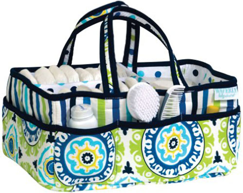 1. Trend Lab Waverly Solar Flair Diaper Caddy
