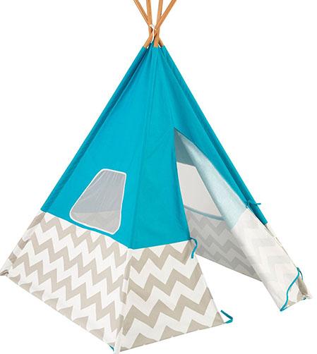6. KidKraft Turquoise Teepee Tent