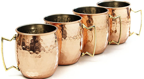 6. Home Select Moscow Mule Drinking Mug (Set of 4)