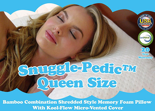 2. Snuggle-Pedic Foam Pillow
