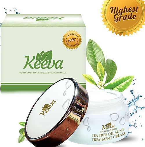 6. Keeva Tea Tree Oil Acne Treatment Cream, 30gm
