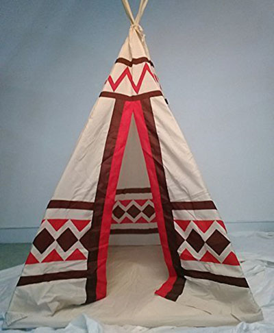 9. Dream House Portable Indoor Teepee for Kids