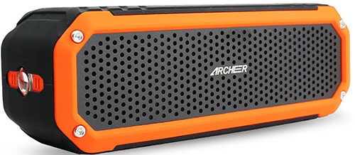 best bluetooth speakers. bluetooth speakers archeer portable outdoor speaker with bass, clip, microphone and flashlight best