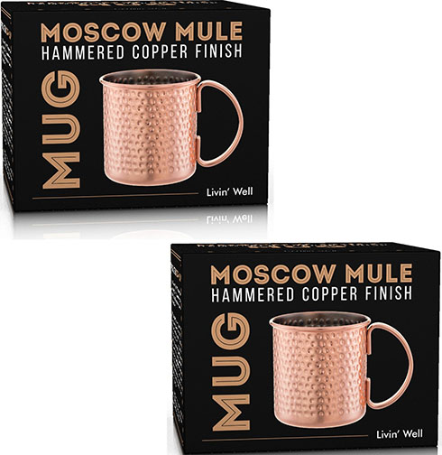 6. Moscow Mule Hand Hammered Copper Mug - 16 oz. - Set of 2 - with FREE Bonus Cocktail Recipes
