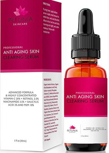 9. Petunia Skincare Professional Anti-Aging Serum