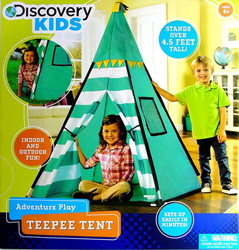 3. Discovery Kids Green Adventure Teepee Tent
