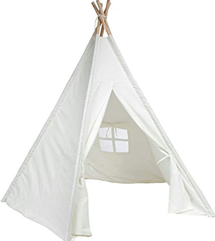 2. DalosDream Indoor Outdoor White Teepee Tent