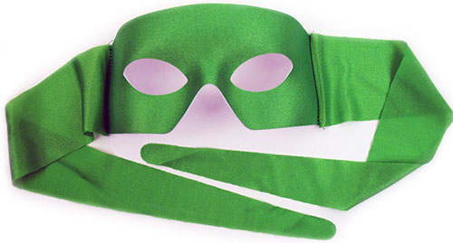 4. Verona Green Men's Masquerade Mask