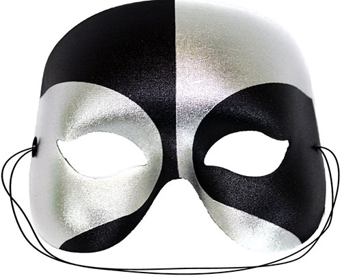 10. Masquerade Black-Silver for Men
