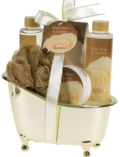 7. Jasmine Gold Tub Spa Bath Gift Set