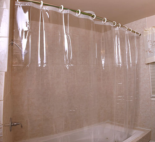 1. Heavy Duty Mildew Resistant Antibacterial Shower Curtain Liner