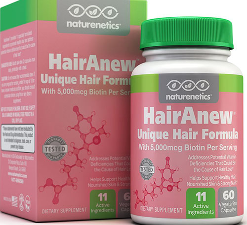 6. HairAnew - Tested - For Hair, Skin & Nails
