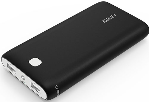 9. Aukey PB-N15 20000 mAh Dual-USB External Battery Charger