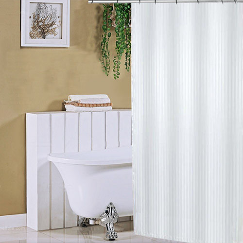 Polyester Fabric Mildew Resistant Shower Curtain Liner