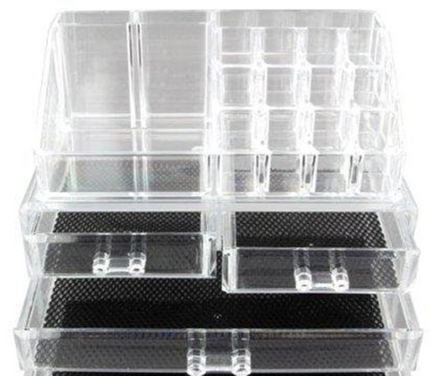 4. Vencer Standard-size Jewelry & Cosmetic/makeup Organizer Set (1 Top 4 Drawers)