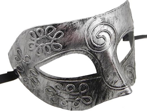 6. Men's Vintage Rome Half Face Mask