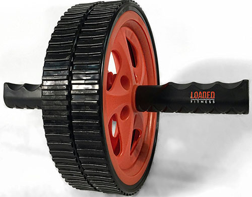 8.Ab Roller Wheel Fitness Roller Equipment For Home Gym Core Exercises & Strength Training From Reloaded Fitness , Use Anywhere, Burn Fat, Abdominal Strengthening, Portable, Includes Directions , Enhanced Workout