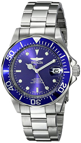 10. Invicta Men's 9094 Pro Diver Collection Stainless Steel Automatic Dress Watch with Link Bracelet