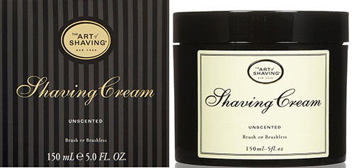 5. The Art of Shaving Shaving Cream, Unscented, 5 fl. oz.