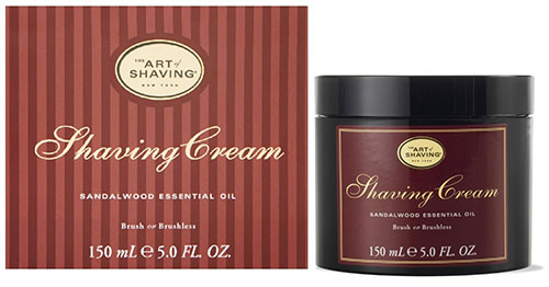 2. The Art of Shaving Shaving Cream, Sandalwood, 5 fl. oz.