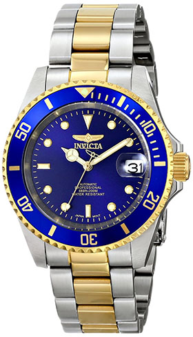 3. Invicta Men's 8928OB Pro Diver 23k Gold-Plated and Stainless Steel Two-Tone Automatic Watch