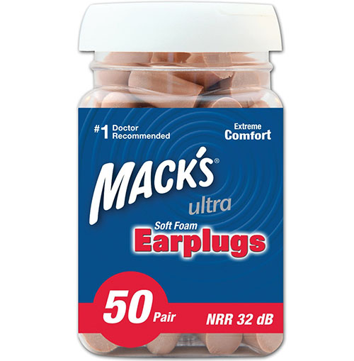 1. Mack's Ear Care Soft Foam Earplugs