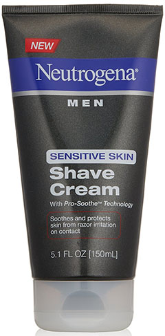 3. Neutrogena Men Sensitive Skin Shave Cream, 5.1 Ounce