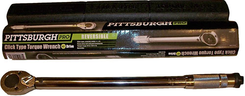 6. Pittsburgh Pro 239 Drive Torque Wrench