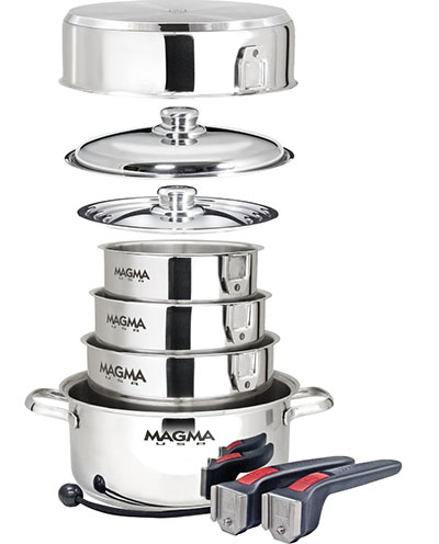 4. Nesting Stainless Steel Cookware Set