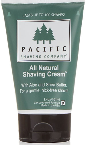 1. Pacific Shaving Company Natural Shaving Cream, 3.4 Ounce