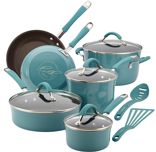 5. Porcelain Enamel Nonstick Cookware Set