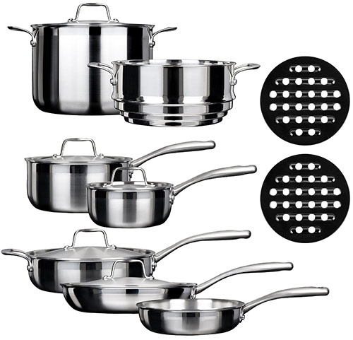 10. 14PC Tri-Ply Induction Cookware Set